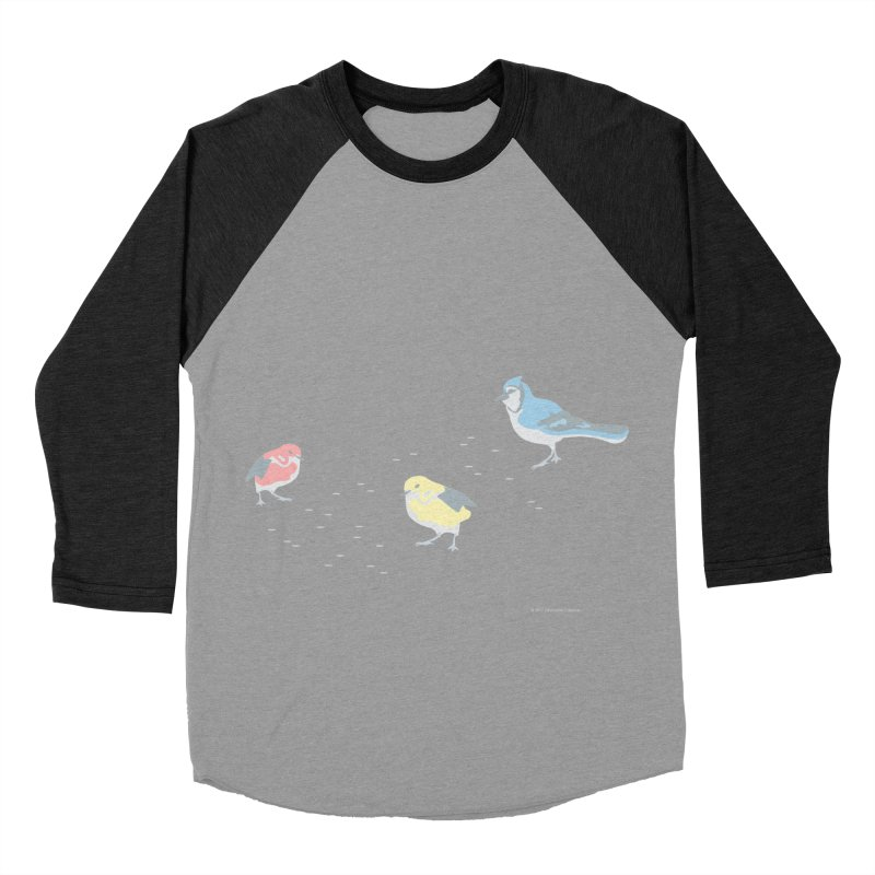 Little Birds (Primary Colors) Men's Baseball Triblend Longsleeve T-Shirt by cityscapecreative's Artist Shop