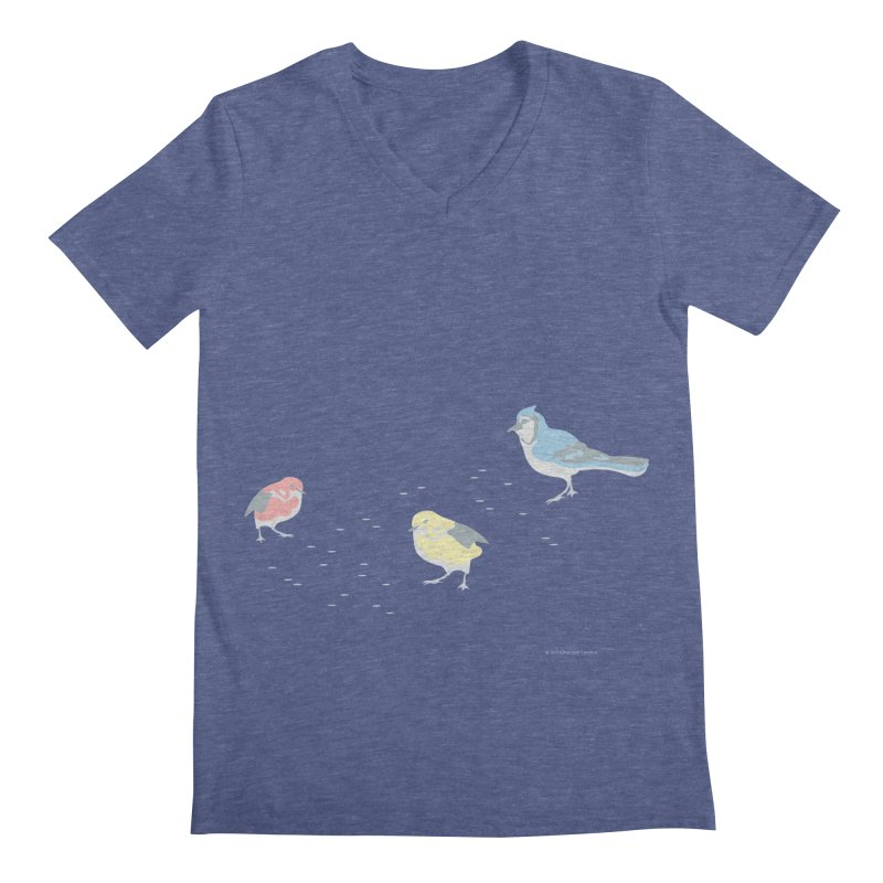 Little Birds (Primary Colors) Men's Regular V-Neck by cityscapecreative's Artist Shop