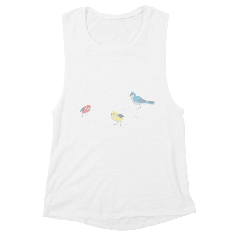 Little Birds (Primary Colors) Women's Tank by cityscapecreative's Artist Shop
