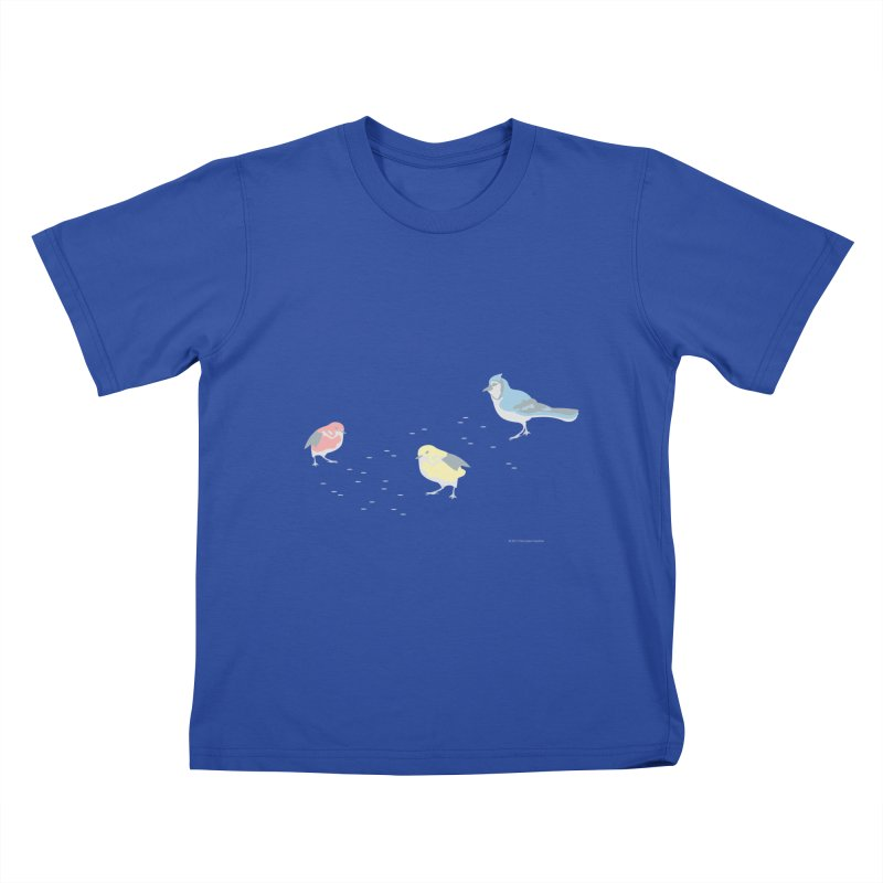 Little Birds (Primary Colors) Kids T-Shirt by cityscapecreative's Artist Shop