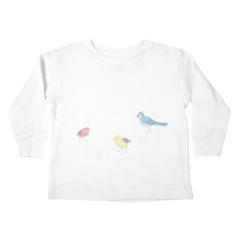 Little Birds (Primary Colors) Kids Toddler Longsleeve T-Shirt by cityscapecreative's Artist Shop