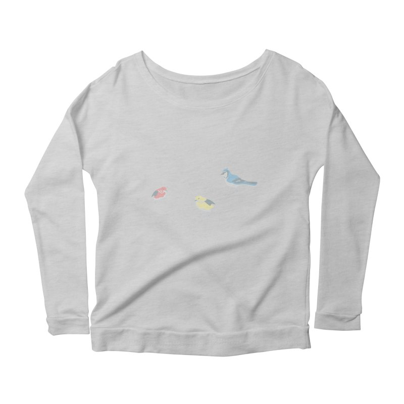 Little Birds (Primary Colors) Women's Longsleeve T-Shirt by cityscapecreative's Artist Shop