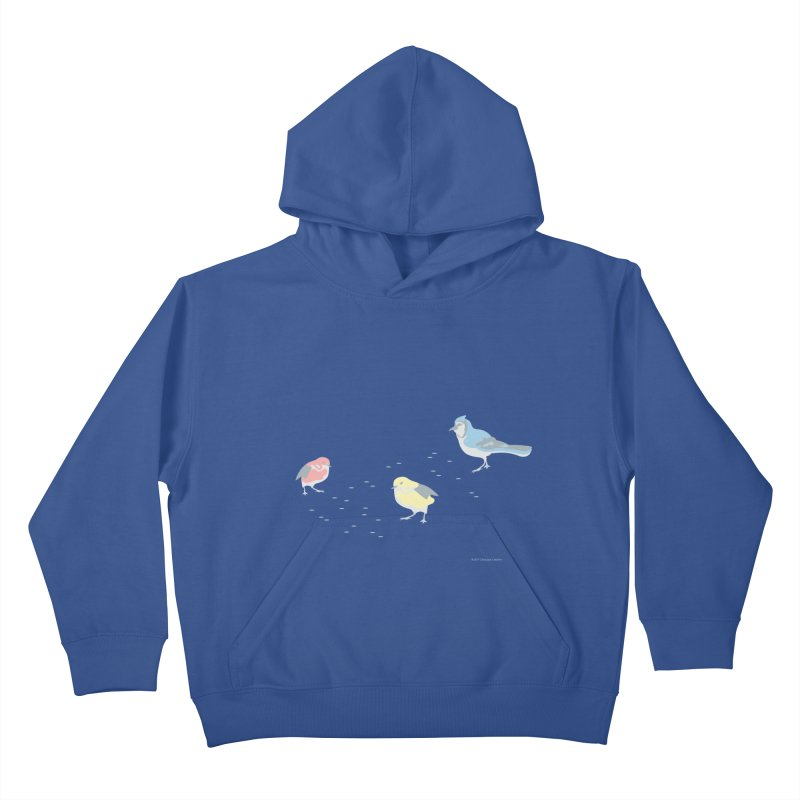 Little Birds (Primary Colors) Kids Pullover Hoody by cityscapecreative's Artist Shop