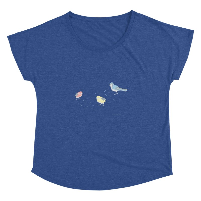 Little Birds (Primary Colors) Women's Dolman Scoop Neck by cityscapecreative's Artist Shop