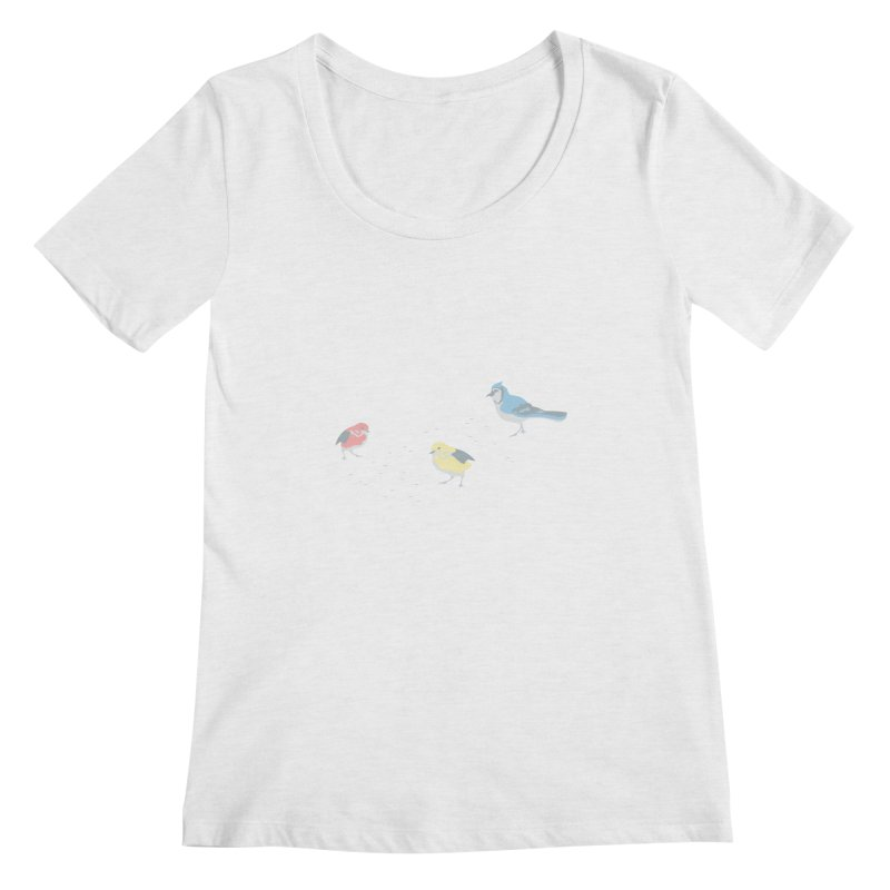 Little Birds (Primary Colors) Women's Scoop Neck by cityscapecreative's Artist Shop