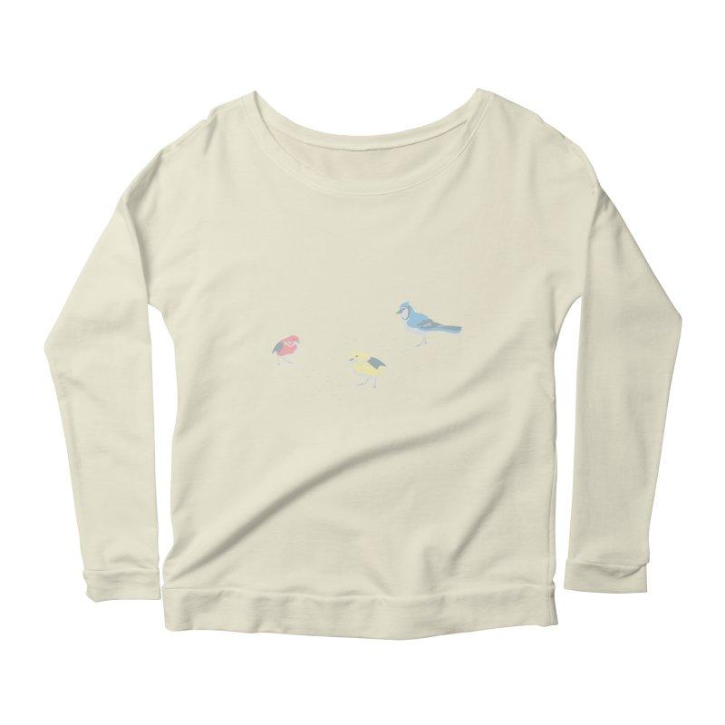 Little Birds (Primary Colors) Women's Scoop Neck Longsleeve T-Shirt by cityscapecreative's Artist Shop