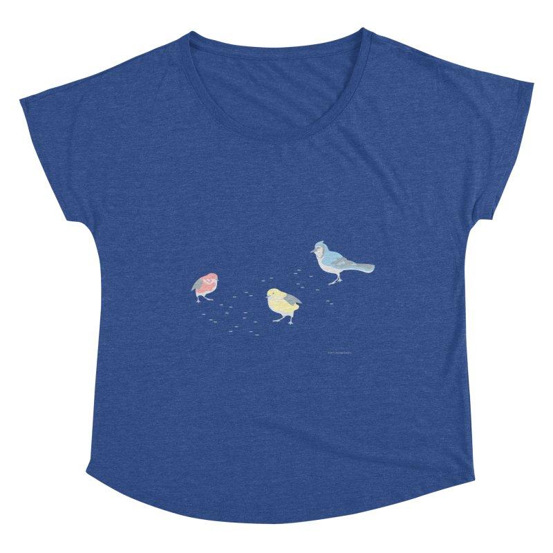 Little Birds (Primary Colors) Women's Dolman Scoop Neck by cityscapecreative's Artist Shop