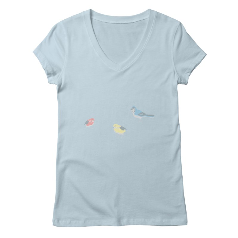 Little Birds (Primary Colors) Women's V-Neck by cityscapecreative's Artist Shop