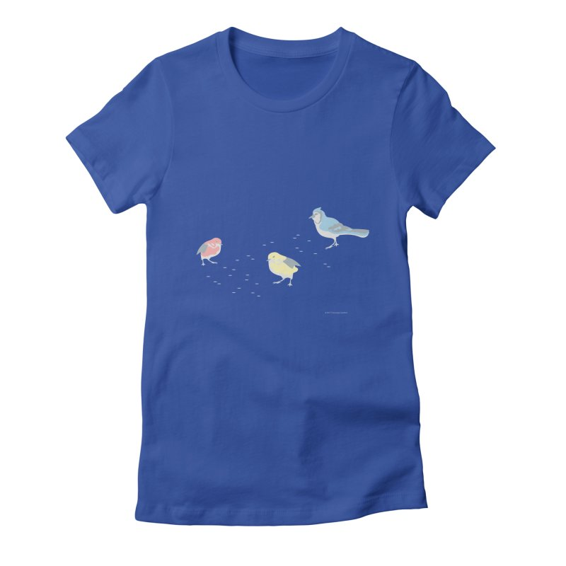 Little Birds (Primary Colors) Women's Fitted T-Shirt by cityscapecreative's Artist Shop