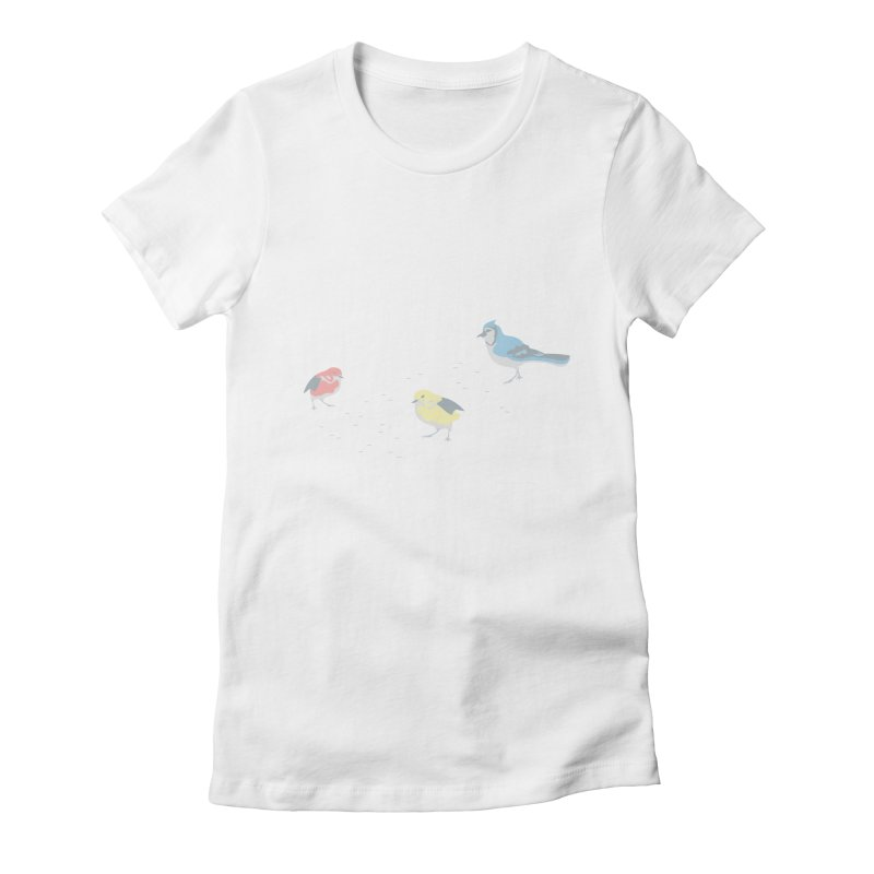 Little Birds (Primary Colors) Women's T-Shirt by cityscapecreative's Artist Shop