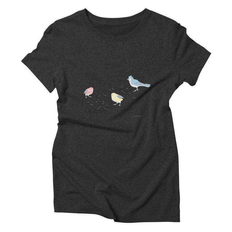 Little Birds (Primary Colors) Women's T-Shirt by cityscapecreative's Artist Shop