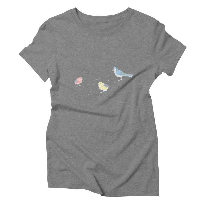 Little Birds (Primary Colors) Women's Triblend T-Shirt by cityscapecreative's Artist Shop