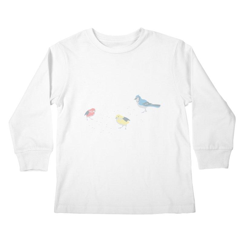Little Birds (Primary Colors) Kids Longsleeve T-Shirt by cityscapecreative's Artist Shop