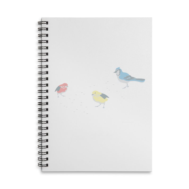 Little Birds (Primary Colors) in Lined Spiral Notebook by cityscapecreative's Artist Shop