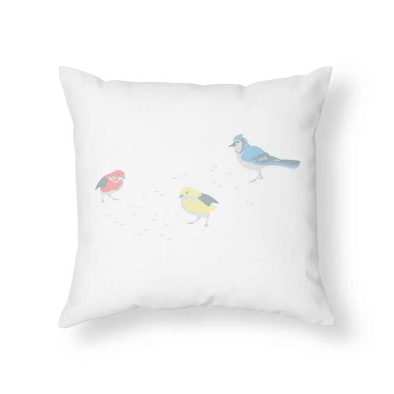 Little Birds (Primary Colors) Home Throw Pillow by cityscapecreative's Artist Shop