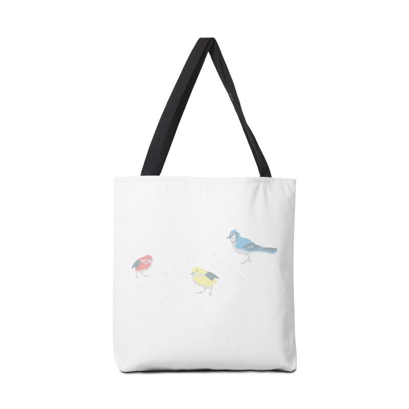 Little Birds (Primary Colors) Accessories Bag by cityscapecreative's Artist Shop
