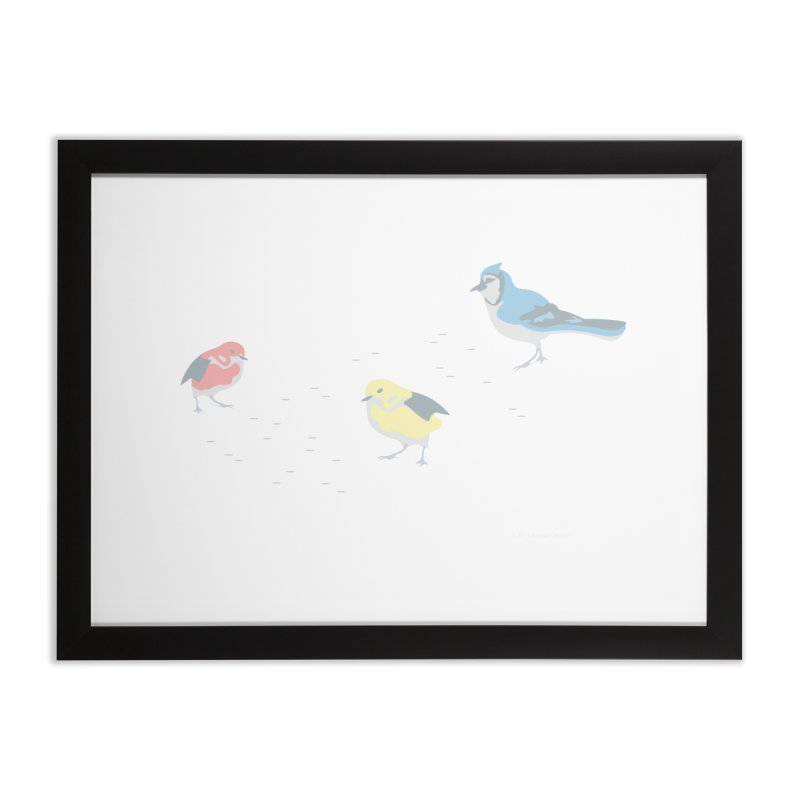 Little Birds (Primary Colors) Home Framed Fine Art Print by cityscapecreative's Artist Shop