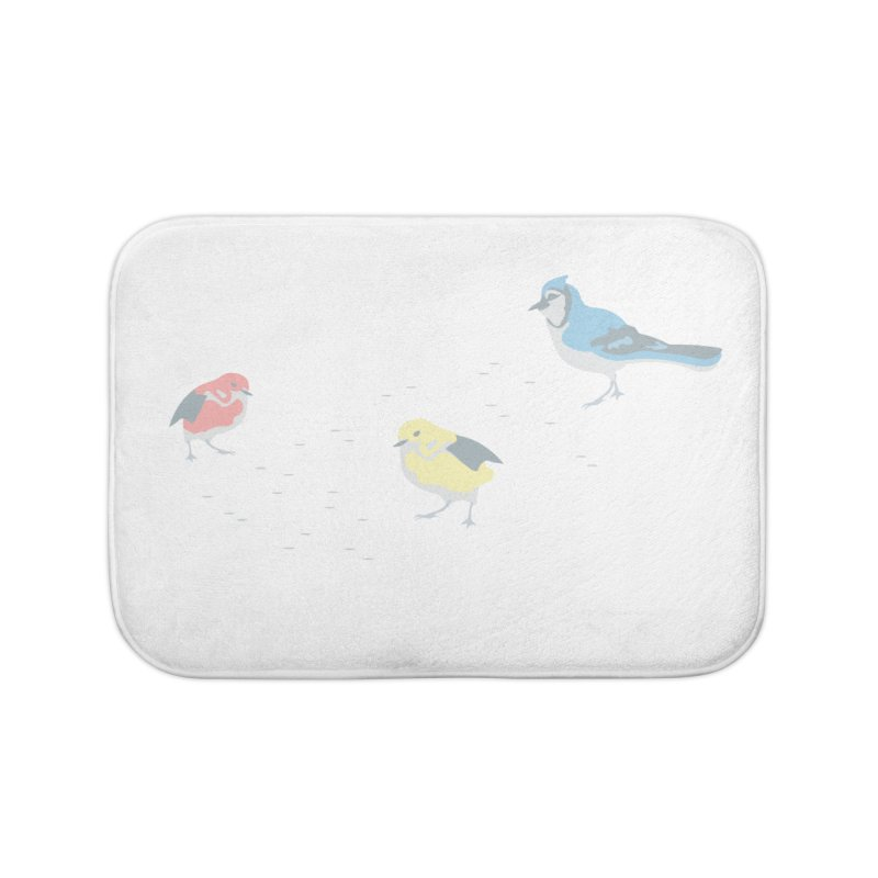 Little Birds (Primary Colors) Home Bath Mat by cityscapecreative's Artist Shop