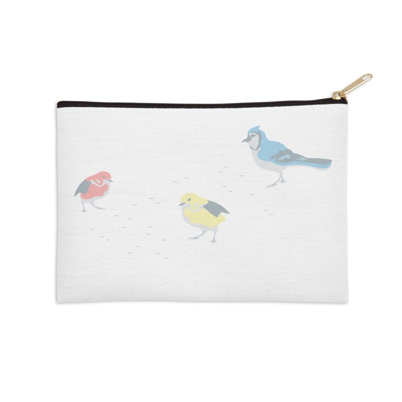 Little Birds (Primary Colors) Accessories Zip Pouch by cityscapecreative's Artist Shop
