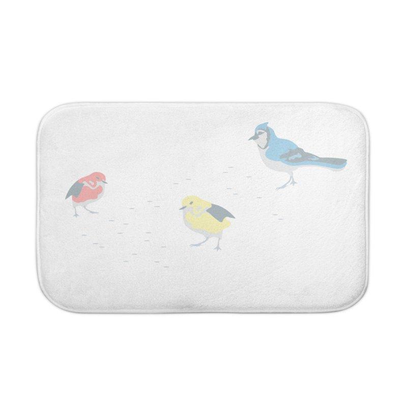 Little Birds (Primary Colors) Home Bath Mat by cityscapecreative's Artist Shop
