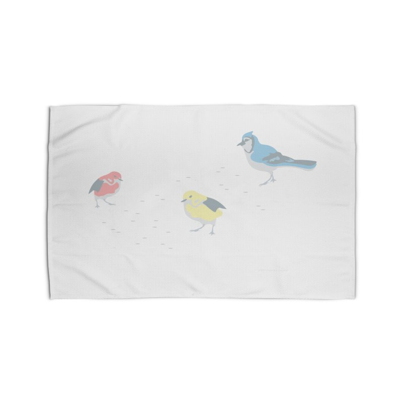 Little Birds (Primary Colors) Home Rug by cityscapecreative's Artist Shop