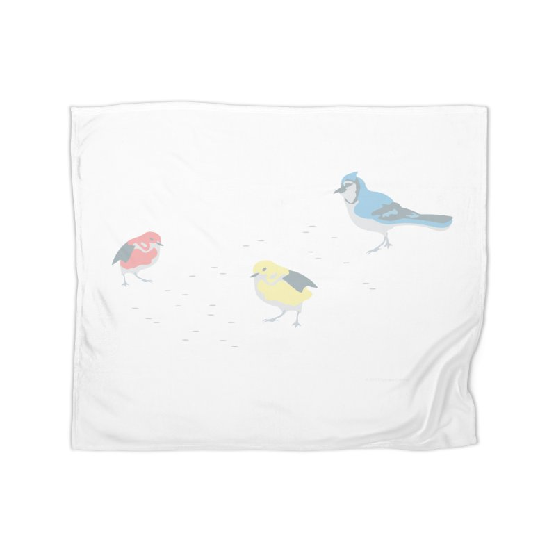 Little Birds (Primary Colors) Home Fleece Blanket Blanket by cityscapecreative's Artist Shop