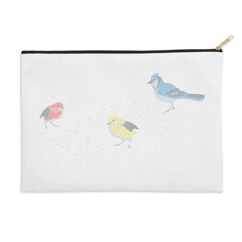 Little Birds (Primary Colors) Accessories Zip Pouch by cityscapecreative's Artist Shop