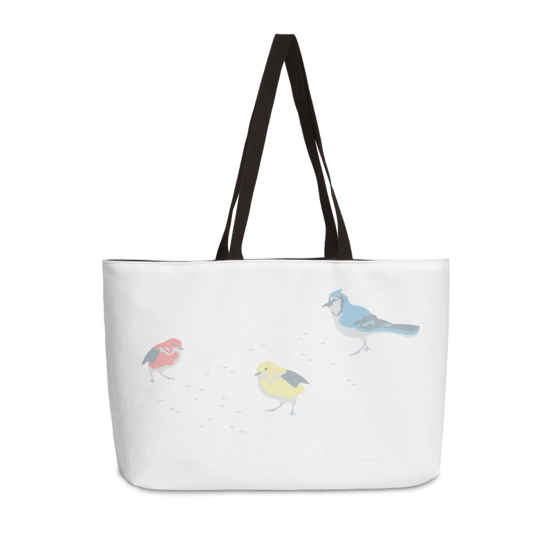 Little Birds (Primary Colors) Accessories Bag by cityscapecreative's Artist Shop
