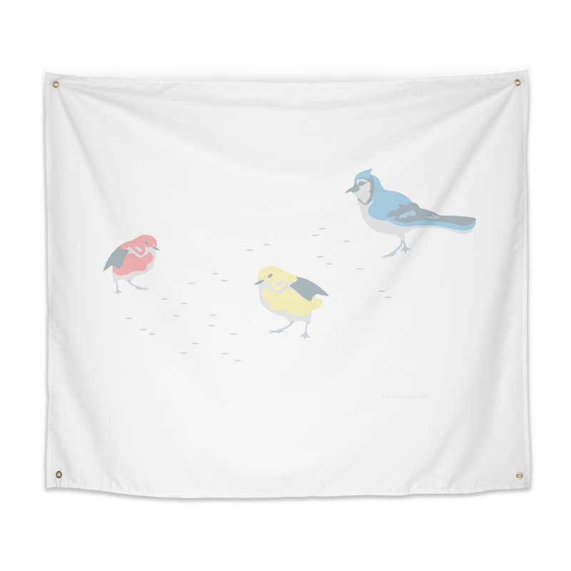 Little Birds (Primary Colors) Home Tapestry by cityscapecreative's Artist Shop