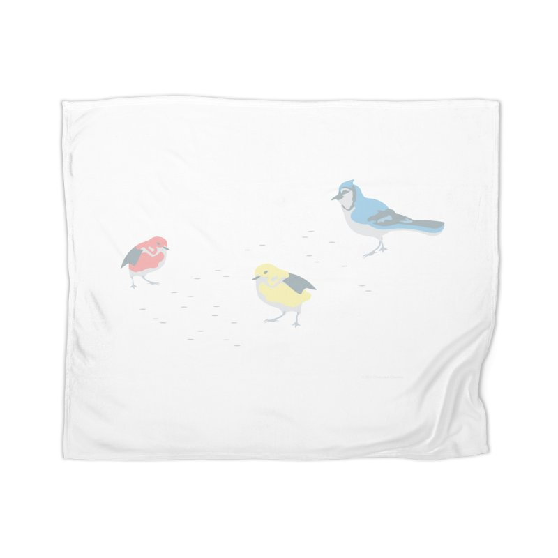 Little Birds (Primary Colors) Home Blanket by cityscapecreative's Artist Shop