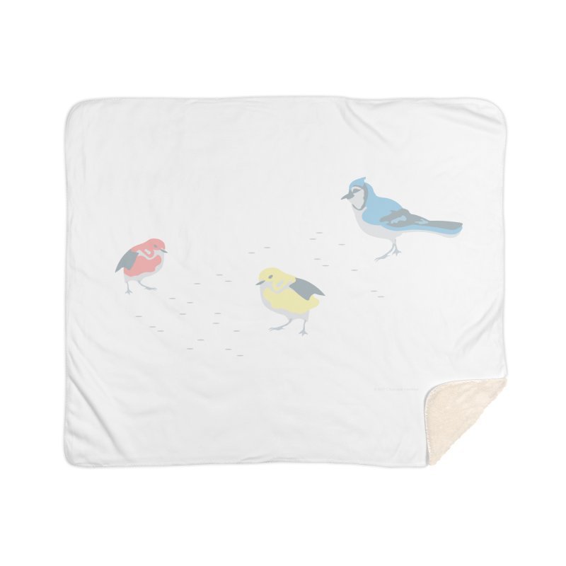 Little Birds (Primary Colors) Home Sherpa Blanket Blanket by cityscapecreative's Artist Shop