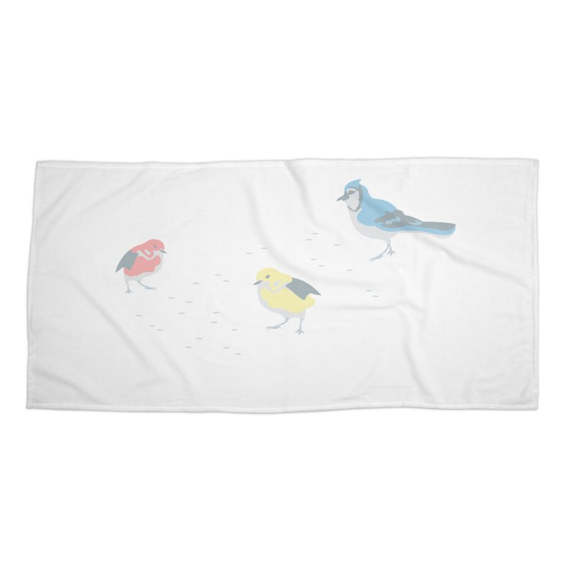 Little Birds (Primary Colors) Accessories Beach Towel by cityscapecreative's Artist Shop