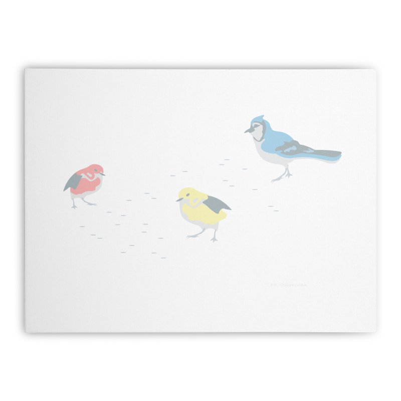 Little Birds (Primary Colors) Home Stretched Canvas by cityscapecreative's Artist Shop