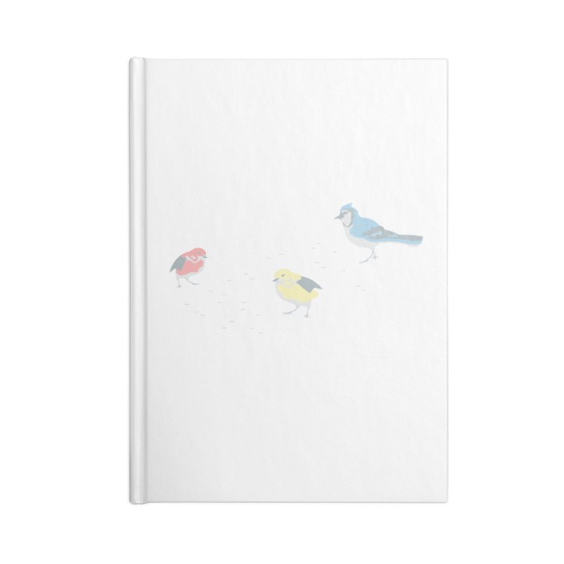Little Birds (Primary Colors) in Blank Journal Notebook by cityscapecreative's Artist Shop