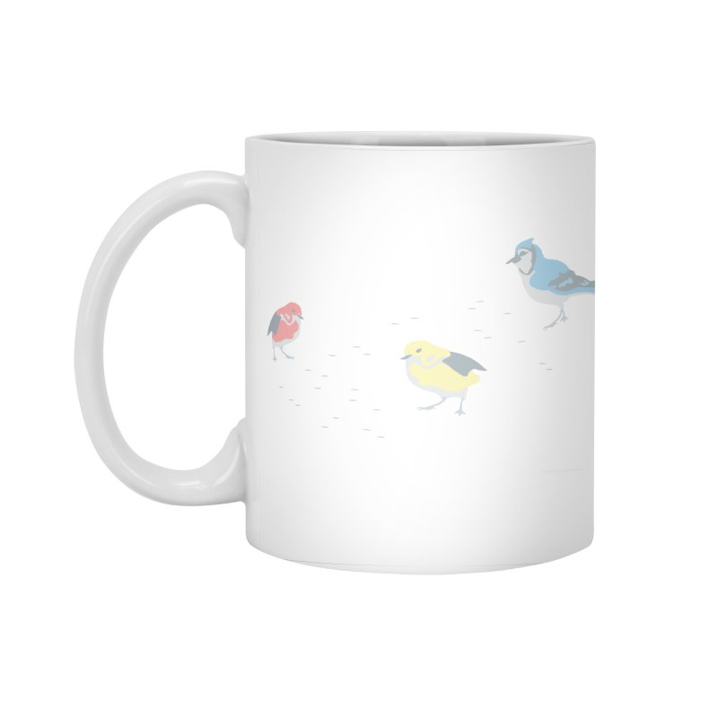 Little Birds (Primary Colors) in Standard Mug White by cityscapecreative's Artist Shop