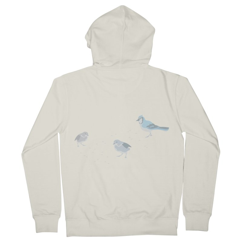 Little Birds (Muted Colors) Women's French Terry Zip-Up Hoody by cityscapecreative's Artist Shop