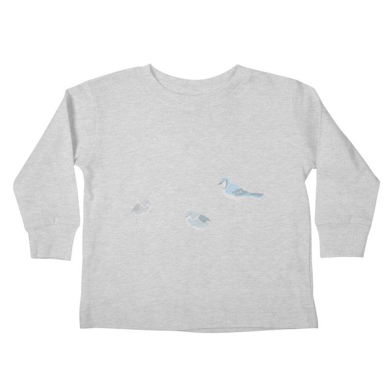 Little Birds (Muted Colors) Kids Toddler Longsleeve T-Shirt by cityscapecreative's Artist Shop