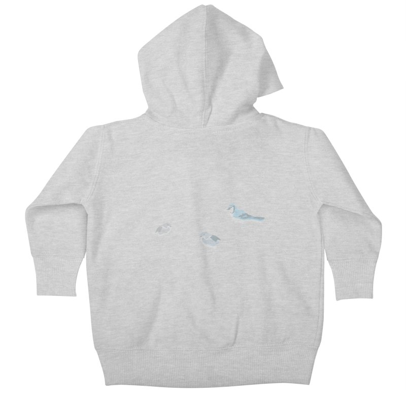 Little Birds (Muted Colors) Kids Baby Zip-Up Hoody by cityscapecreative's Artist Shop