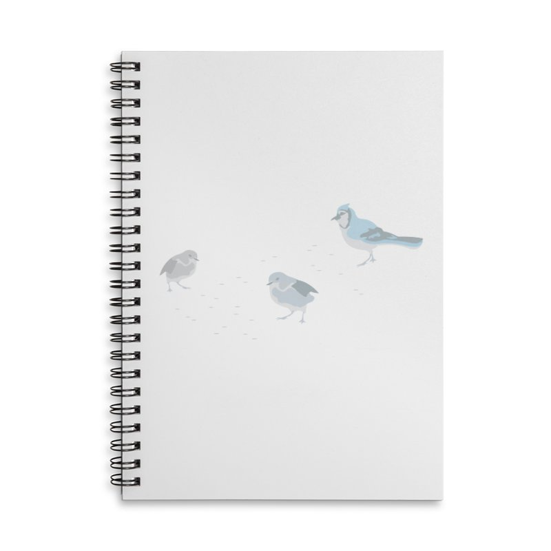 Little Birds (Muted Colors) in Lined Spiral Notebook by cityscapecreative's Artist Shop