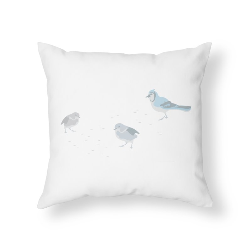Little Birds (Muted Colors) Home Throw Pillow by cityscapecreative's Artist Shop