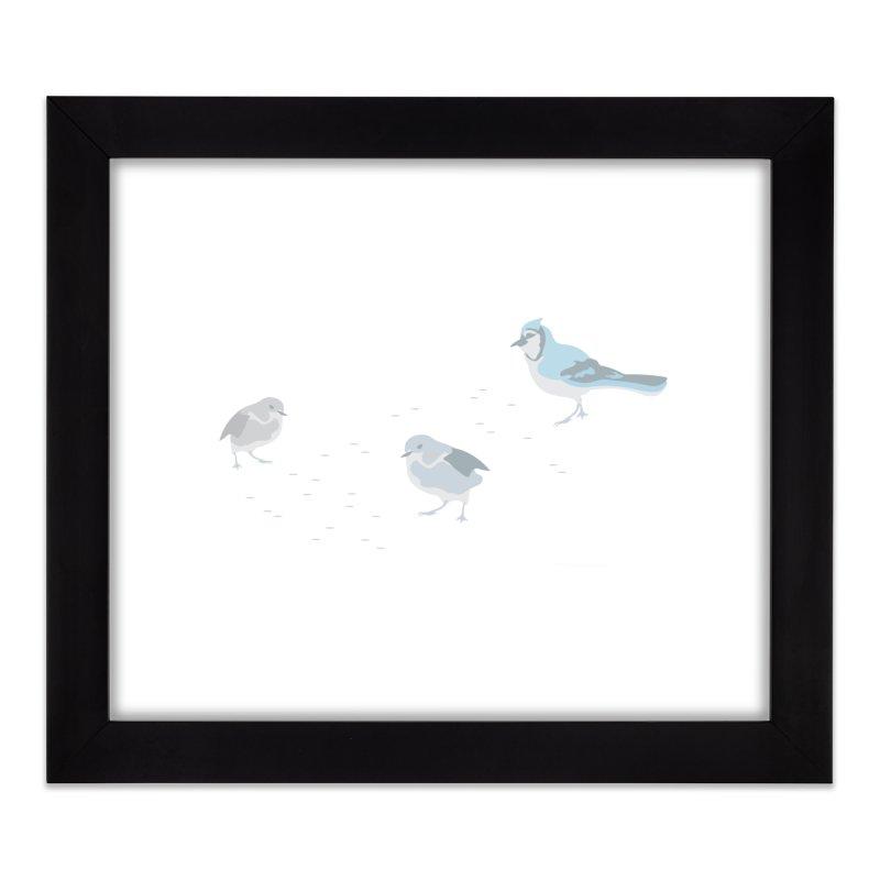 Little Birds (Muted Colors) Home Framed Fine Art Print by cityscapecreative's Artist Shop