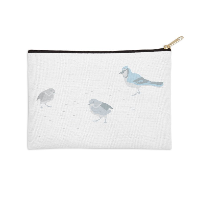 Little Birds (Muted Colors) in Zip Pouch by cityscapecreative's Artist Shop