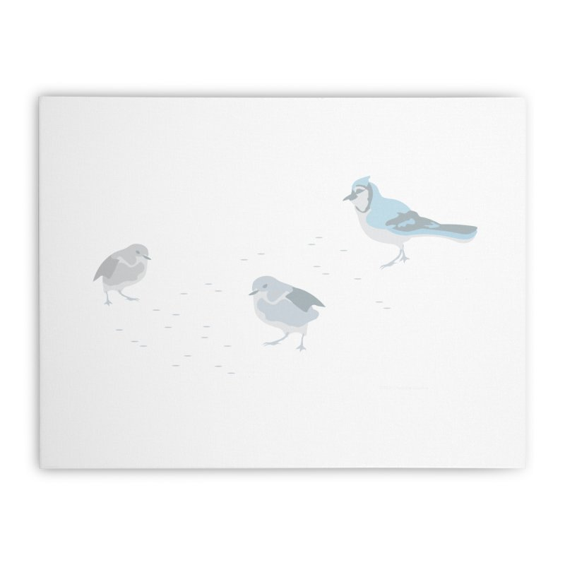 Little Birds (Muted Colors) Home Stretched Canvas by cityscapecreative's Artist Shop
