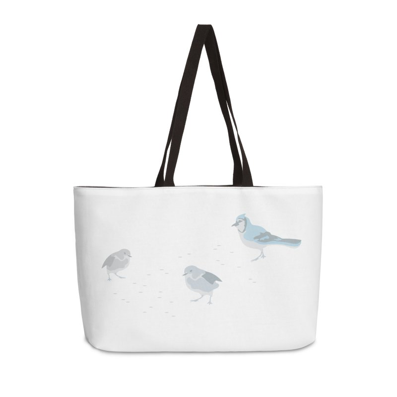 Little Birds (Muted Colors) in Weekender Bag by cityscapecreative's Artist Shop