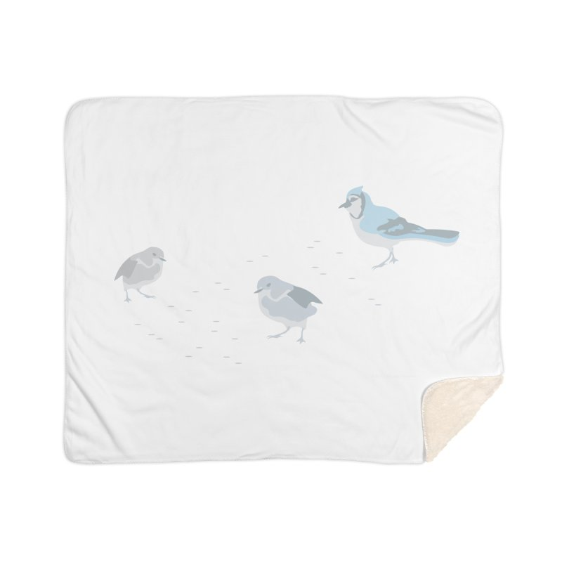 Little Birds (Muted Colors) Home Blanket by cityscapecreative's Artist Shop