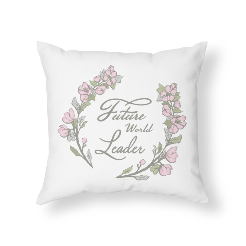Future World Leader (Color) Home Throw Pillow by cityscapecreative's Artist Shop