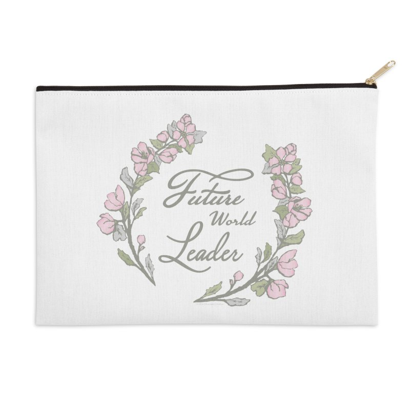Future World Leader (Color) Accessories Zip Pouch by cityscapecreative's Artist Shop