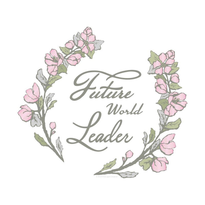 Future World Leader (Color) Women's V-Neck by cityscapecreative's Artist Shop