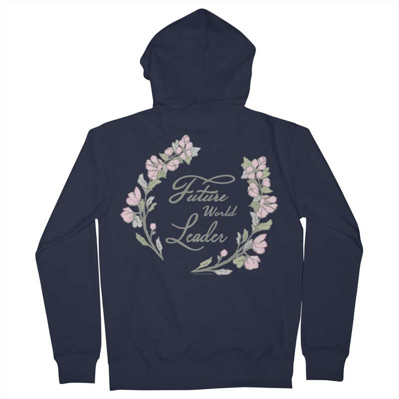 Future World Leader (Color) Women's Zip-Up Hoody by cityscapecreative's Artist Shop