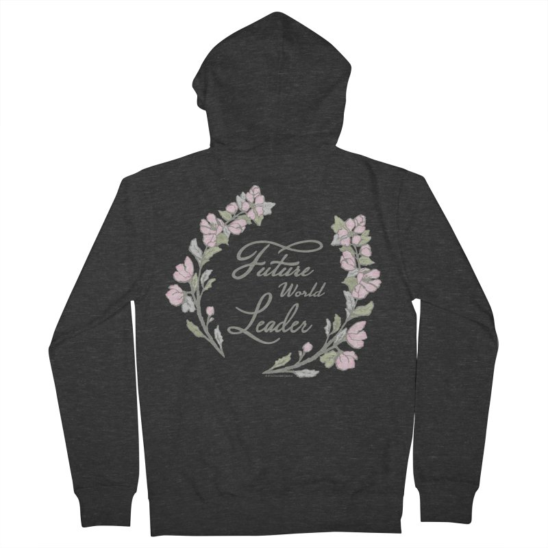 Future World Leader (Color) Men's French Terry Zip-Up Hoody by cityscapecreative's Artist Shop